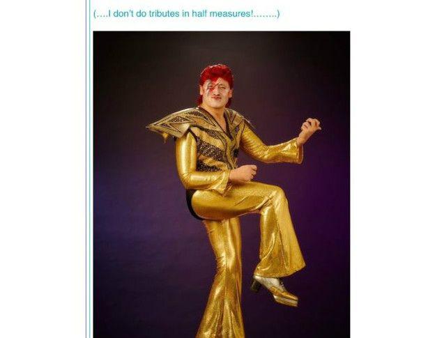 Wagner disfrazado de Ziggy Stardust