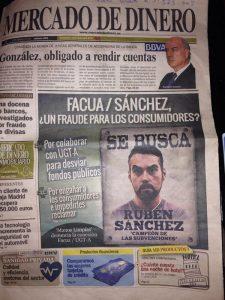 Una muestra de la manía persecutoria de Luis Pineda hacia Rubén Sánchez.