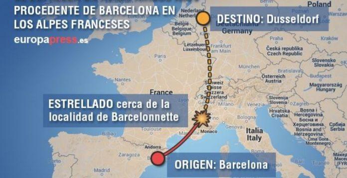 Mapa del accidente