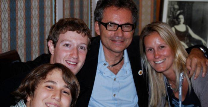 Martin Varsavskty, con el el fundador de Facebook, Mark Zuckerberg