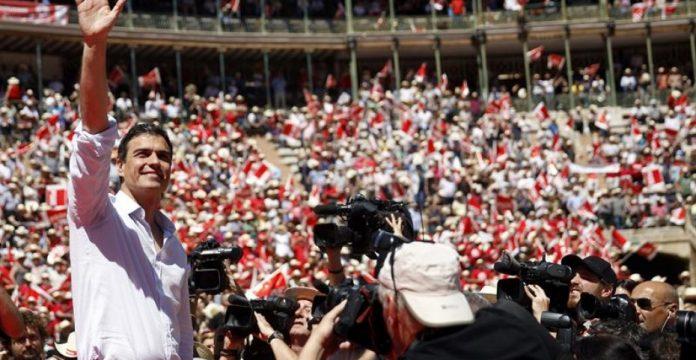 Pedro Sánchez en el mitin de los socialista valencianos