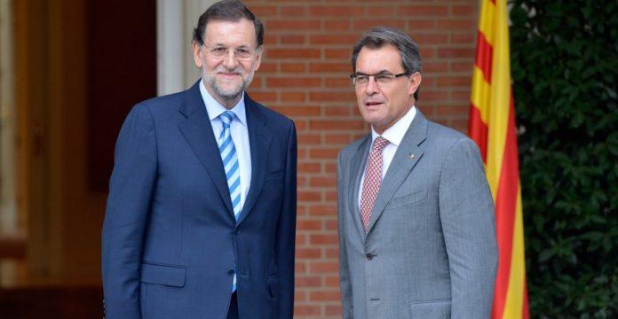 Rajoy junto a Mas en un encuentro en 2012
