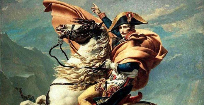 Napoleón a caballo, retratado por David