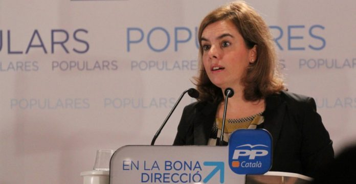 Soraya Sáenz de Santamaría, en un acto del PP