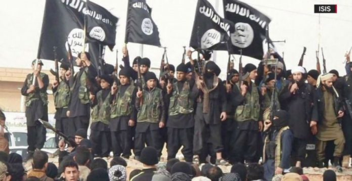 Un grupo de combatientes de Daesh en Siria