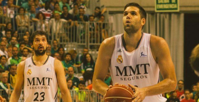 Sergio Llull y Felipe Reyes, en un partido de la temporada pasada.
