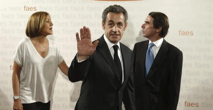 Aznar inauguró los cursos de FAES junto a Sarkozy y Cospedal
