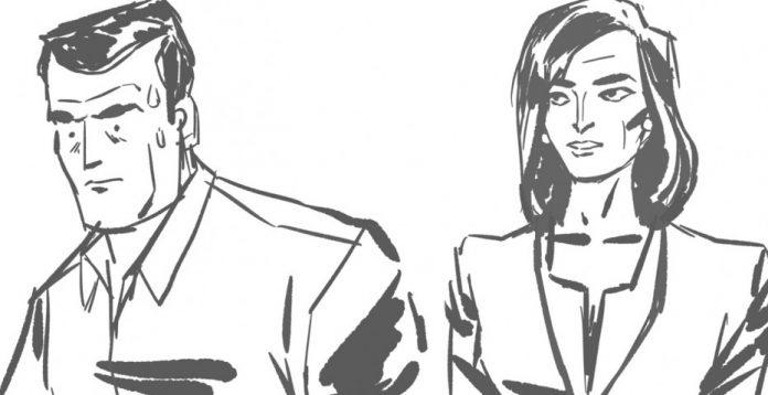 Boceto de Luis Bustos para la serie