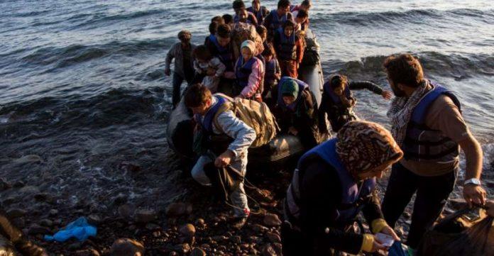 Un grupo de afganos llega a Lesbos procedentes de Turquía