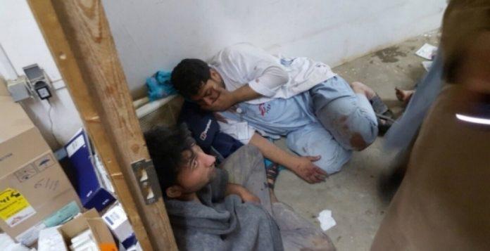 Imagen del hospital tras el bombardeo