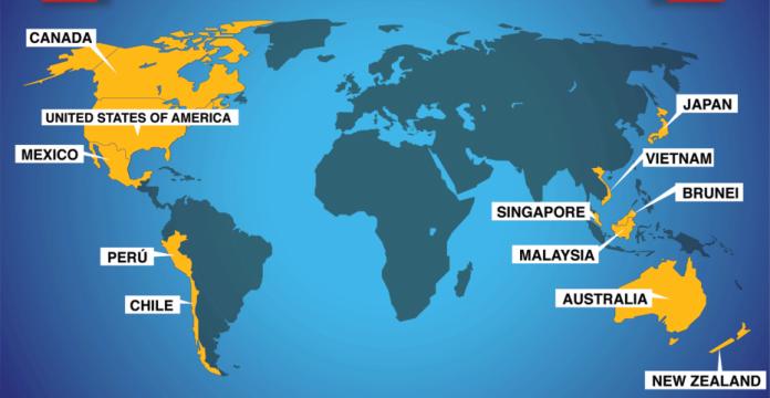 Mapa del TPP