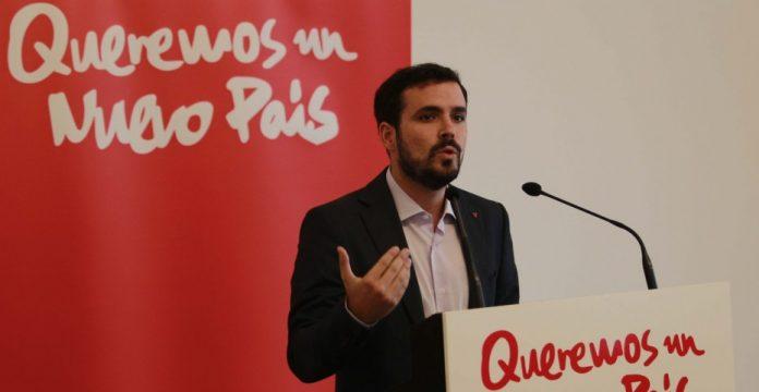 Garzón presentó ayer su candidatura a las primarias de la plataforma Ahora en Común.