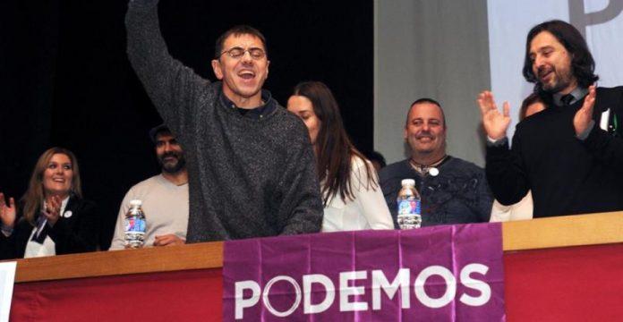 Juan Carlos Monedero, en un acto de Podemos en León hace unos días.