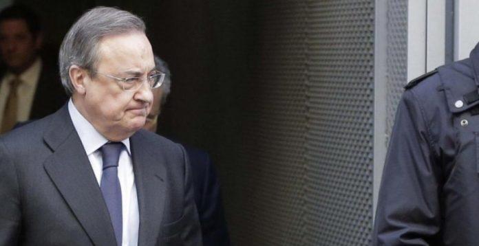 Florentino Pérez, tras su declaración en sede judicial en el marco de la investigación de la trama Púnica.