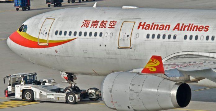 Un avión de la flota de Hainan Airlines, la compañía de la que surgió el holding HNA Group.
