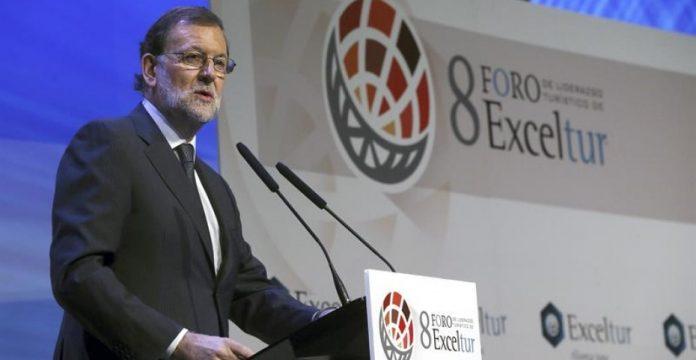Mariano Rajoy durante su intervención en la inauguración del Foro Exceltur