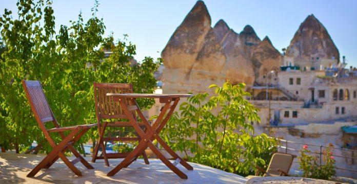 Vista de la Capadocia.