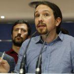 Pablo Iglesias, este viernes en el Congreso. - Foto EFE