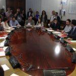 PSOE, C's y Podemos reunieron ayer a 18 negociadores. - Foto EFE