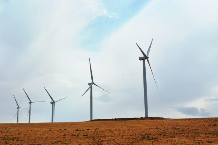 molinos de viento eólico